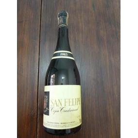 Botella De Vino Antigua San Felipe Cepa Tradicional 1983