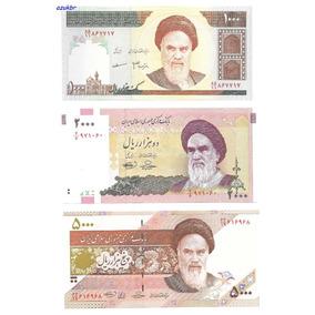 * Iran - Lote De 3 Cédulas Diferentes - Fe *
