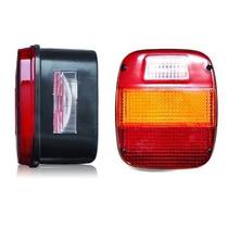 2 Lanterna Traseira Marmitao Ford Cargo Caminhão Vw Troller