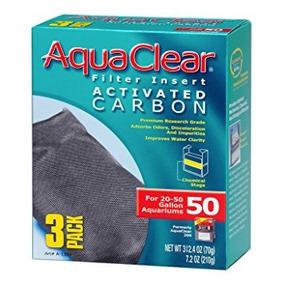 Aquaclear Carbón Activado Insertar, Acuarios De 50 Galones,