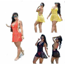 Saida De Praia De Trico Croche Moda Feminia