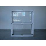 Ventana Guillotina Aluminio Blanco 0,80x1,00 Mts