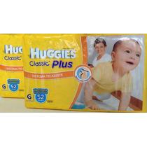 2 Huggies Classic Plus - Talles M - Xxg