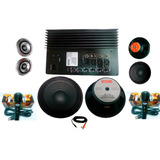 Kit Completo Audio Amplificador 2 Woofer Ideal Para Rockola
