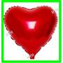 Balão Metalizado Coração Vermelho 45cm