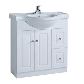 Mueble De Baño Color Blanco, 2 Puertas + 2 Cajones