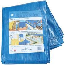Lona Carreteiro Encerado Reforcada 7 X 6 Mt Azul Ou Amarela