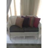 Vendo Mueble Sofa Rattan De Dos Puestos Totalmente Impecable