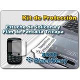 Funda Tpu Silicona Super Protector+film Para Blackberry 8520