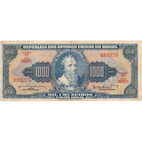 Cédula Mil Cruzeiros - 1ª Estampa - Série 2522ª - Sob