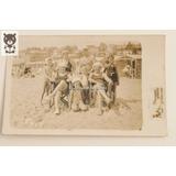 Fotografia Antigua Mar Del Plata Carta Postal Familia 1940