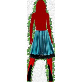 Falda ~ Pollera Larga Cintura Elastizada Fiesta Vestir Raso