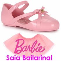 Sapatilha Barbie Ballet Brinde Saia De Bailarina 21391 21471