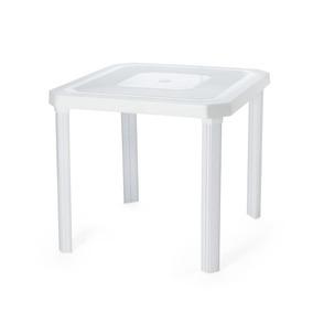 Mesa Plastica Desmontavel Gabriela 80x80 Reforçada