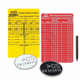 Kit Moeda + Cartão Árbitro Internacional C/ Lápis Go Sports