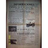 Facsimil De Diario Antiguo Informaciones 1946 Madrid