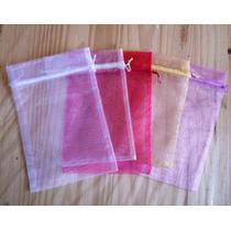 Bolsas Bolsitas Tul Organza 9x12 10 Souvenirs Cotillon
