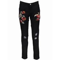 Pantalon Narciso - Bordado Con Desgaste - Parisien