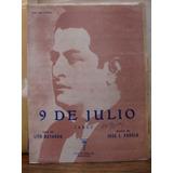 9 De Julio. Tango. Lito Bayardo- Jose L Padula. Partitura.