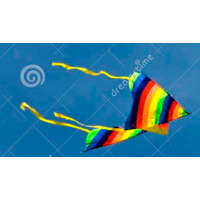 Barrilete Cometa Arcoiris Arco Iris Rayado 1.08cm X 55cm