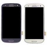 Tela Display Touch Screen Galaxy S3 I9300 Siii Azul E Branco