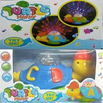 Brinquedo Infantil Tartaruga Musical Com Movimento E Luzes