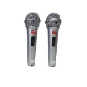 Par De Microfone Com Fio Unidirecional Profissional Wg 2008