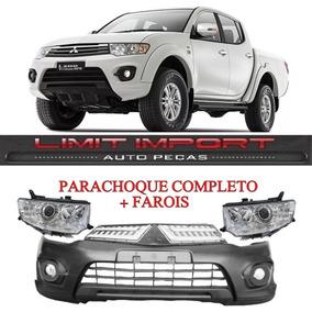 Parachoque L200 Triton + Farois 15 16 Serve 09 A 14 Completo