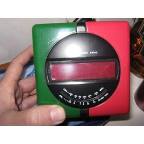 Relógio Digital E Rádio Modelo Cubo Década De 80