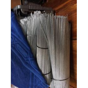 Varilla De Acero Galvanizado Calibre 14 De 50cm Largo $ 2.00