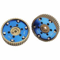 Polia Regulável Para Bmw E30 Azul Em Alumínio (par)