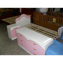 Juego Dormitorio Juvenil Laqueado Nena/nene. Fabrica.-