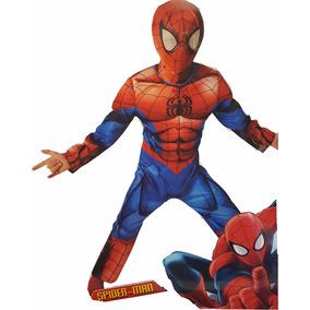 Disfraz Spiderman Ultimate Deluxe Musculos Importado Marvel
