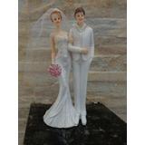 Enfeite Topo Bolo Casamento Em Resina Noivinhos Frete Gratis