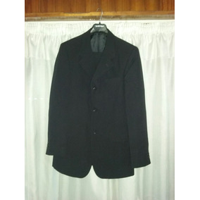 Traje Negro Talle 42 G. Valentino Saco + Pantalón - 1 Uso