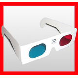 Lentes 3d Anteojos Gafas Tv Rojo Cyan / 100 Unidades