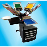 Plano Construccion 3d Maquina De Serigrafia 5 Colores...!