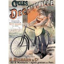 Lienzo Tela Poster Bicicleta Decauville Francia 69 X 50 Cm