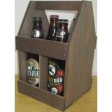 Caixote,caixa De Madeira, Engradado Com Alça Para 4 Cervejas