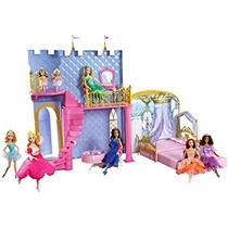 Juguete Barbie Y Las 12 Princesas Bailarinas Castillo Mágic