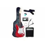 Paquete Guitarra Electrica Con Amplificador Audiomex