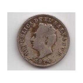 El Salvador Moneda De 5 Centavos Año 1974 !!!