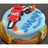 Torta Cumpleaños Infantiles Decoradas Caseras Cars Autos