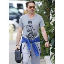 Camisa, Camiseta Bruce Lee Dj Tony Stark
