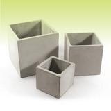 Cubo 30 - Macetas De Fibrocemento - Cemento Ref.