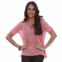 Camiseta Blusa Feminina Ampla Com Lurex