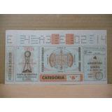 Entrada A Mundialito Fútbol Copa Oro Año 1980 Uruguay