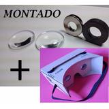Lentes + Ímãs + Brinde Óculos Virtual 3d Google Cardboard