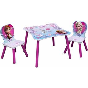 mesa con sillas infantil nias disney frozen