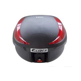 Baú Bauleto Motocicleta Glider 40 Litros Com Base Speed